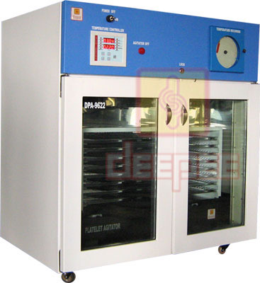platelet incubator with agitator dpa - 9622, Platelet Incubator with Agitator, platelet incubator, safe environment to platelet bags, DEEPEE Platelet Agitators, platelet bags capacity, mechanism of Platelet Agitators, Platelet Agitator, Blood Bank Equipments, Platelet Incubator Manufacturers, Platelet Agitator Manufacturers, platelet incubator cum agitator, Platelet Storage